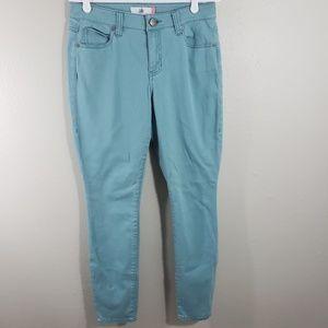 Cabi Curvy Skinny Size 8 TIdal Blue Skinny Jeans